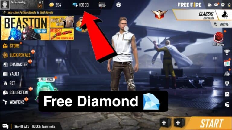 How To Get Free Diamond in Free Fire-Free Fire Diamond Trick