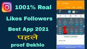 Instagram Free Real Likes Followers App Fire Liker- Best App