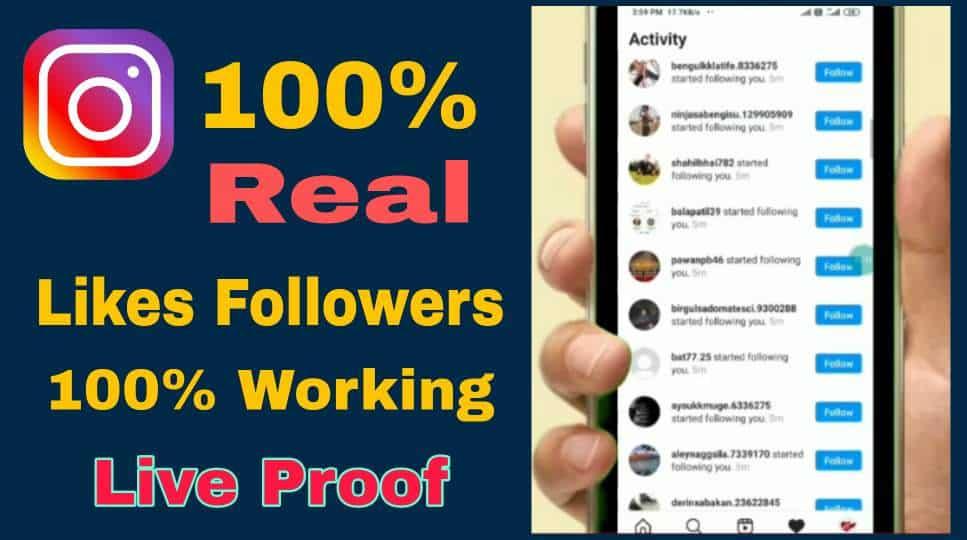 Best Website Likes Followers On Instagram- 100% Real