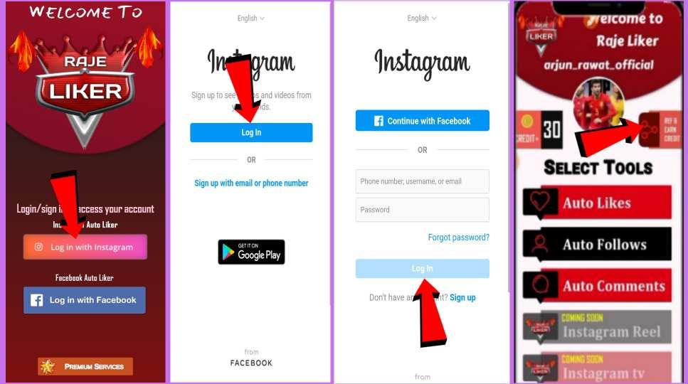 Download Raje Liker App-Get Free Instagram Followers