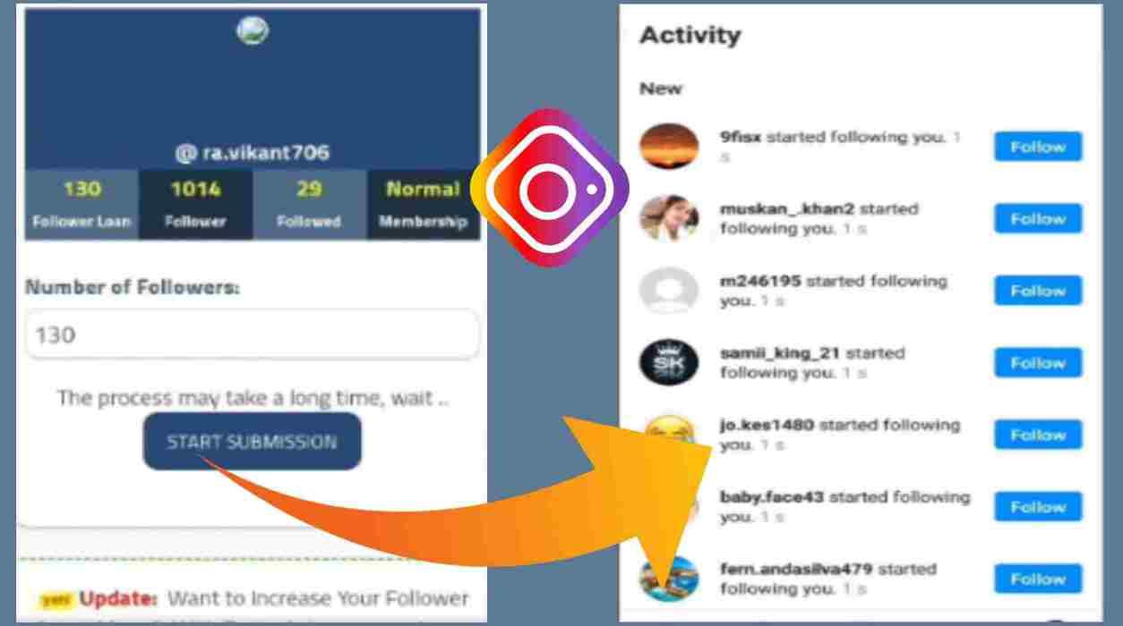 Free Followers For Instagram-100% Working Site On Instagram Followers