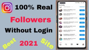 Increase Followers On Instagram- Get Instagram Followers And Likes 2021